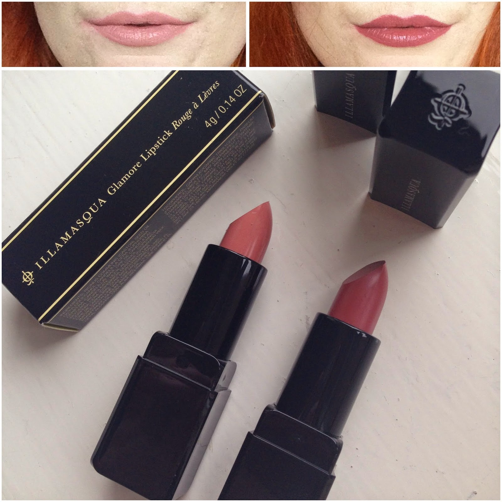 Illamasqua Glamore Nudes Lipstick Minx Rosepout Swatch