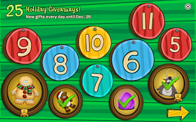Club Penguin 25 Days of Holiday Giveaway