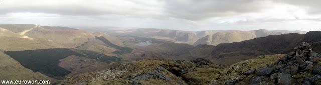Panorámica de la vista desde el Ben Creggan