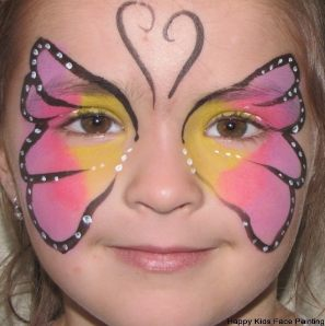 Kids Body Painting Butterfly Face Painting