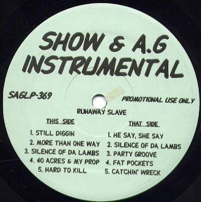 Show & A.G. – Runaway Slave (Instrumentals) (Vinyl) (1992) (192 kbps)