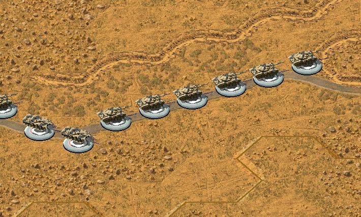 Колонна Т-72 на горной дороге