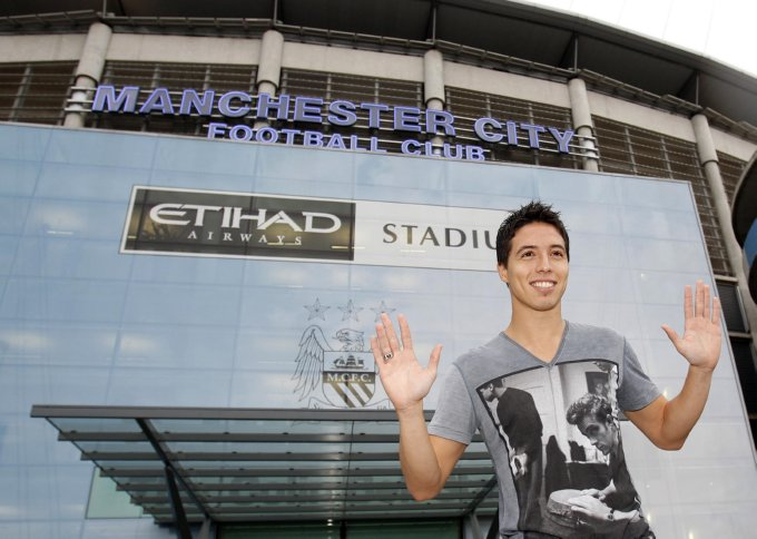 Nasri arrives at City