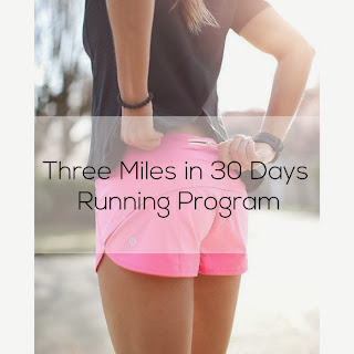 Three miles in 30 days running program