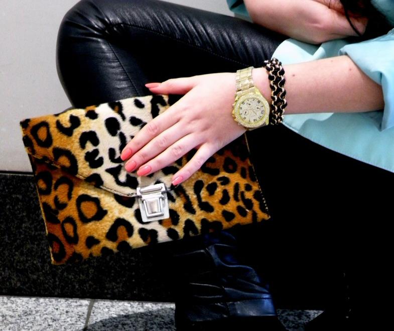 Mint & leather & leopard