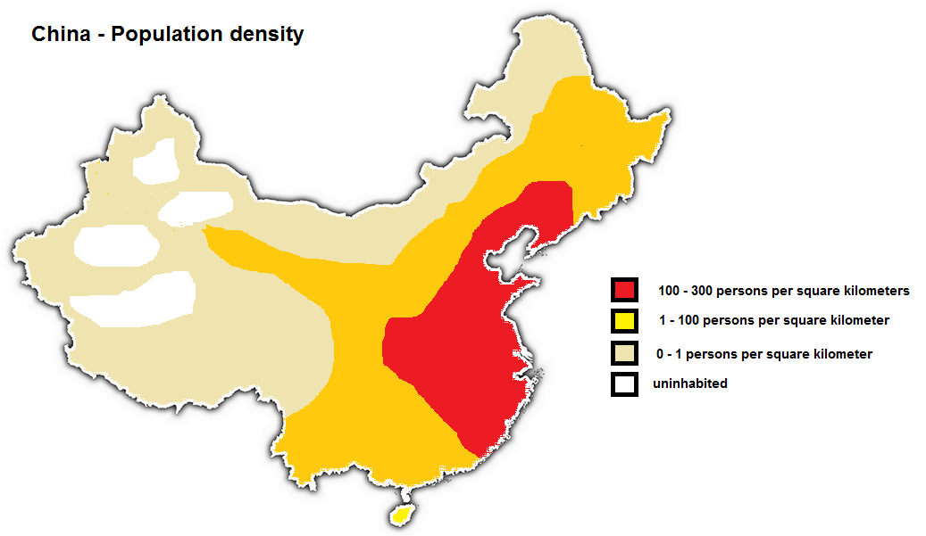 Expedition Earth China population density