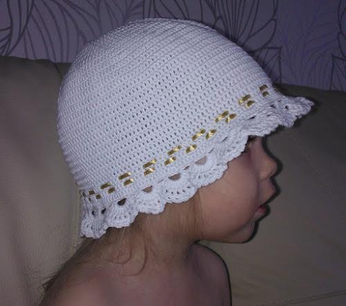 вязание детских панамок