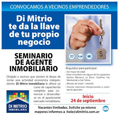 Di Mitrio Inmobiliaria lanza en Septiembre el 11º Seminario de Agente Inmobiliario