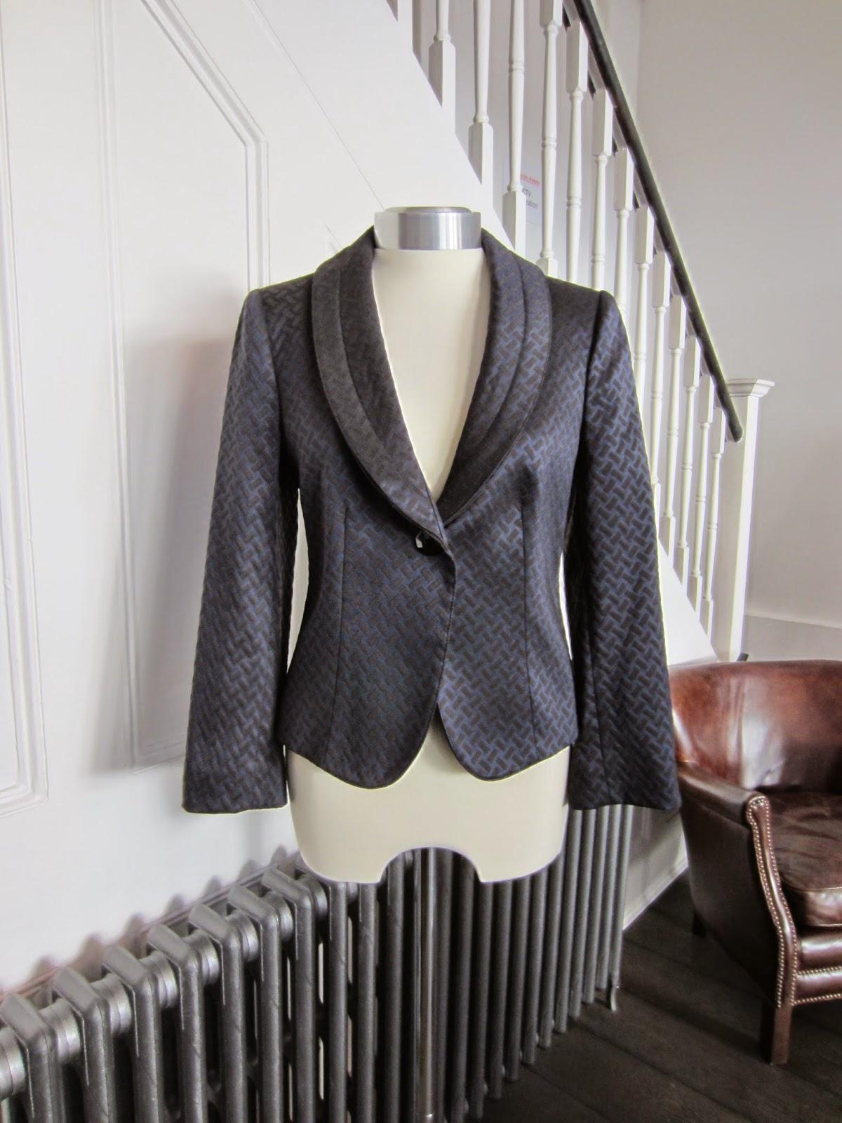 Aramani Collezioni Navy & Black Wol Mix Jacket