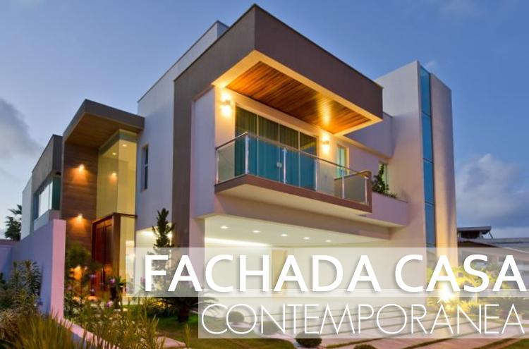 Fachada de casa contempor nea linda confira todos os for Fachadas de casas contemporaneas modernas