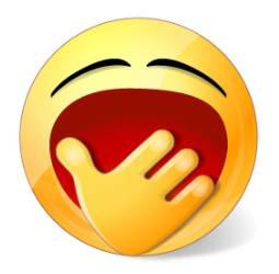 Yawning smiley face