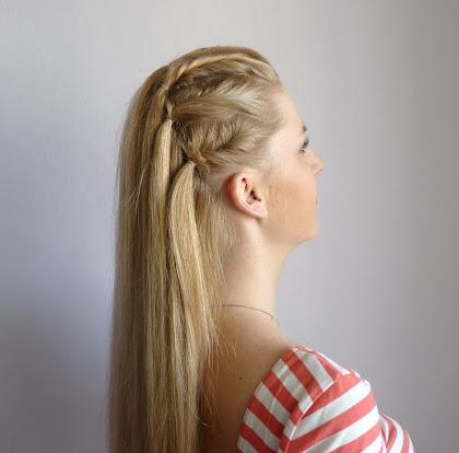 Szybka fryzura na włosach średnich i długich - zdjęcie