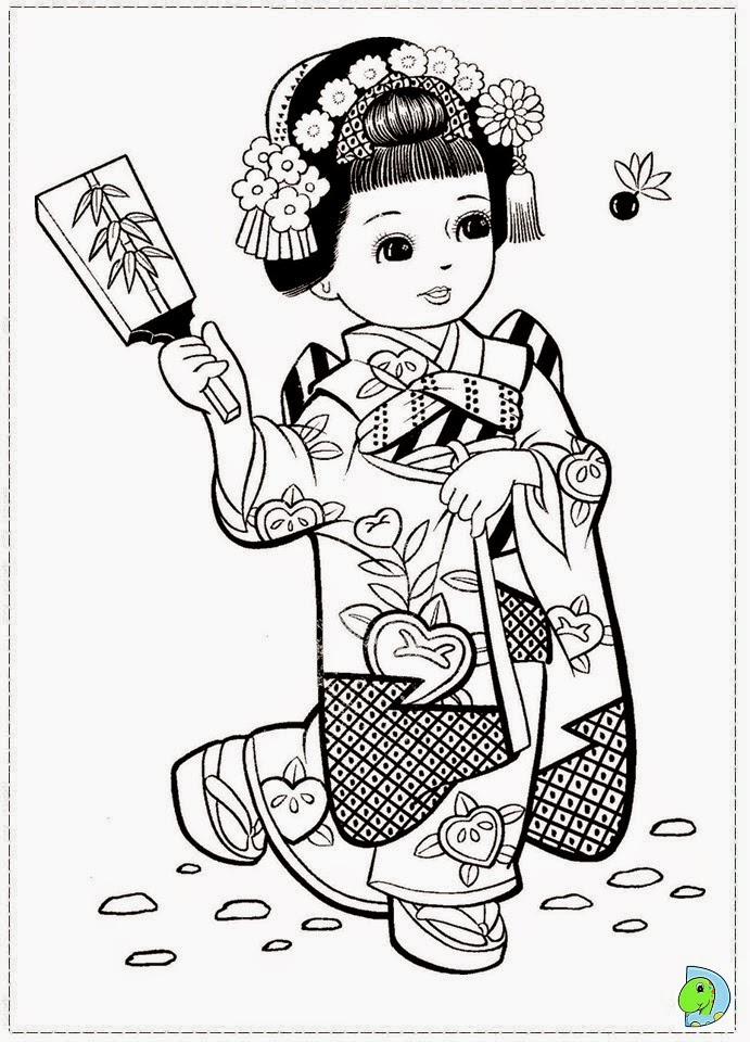 free coloring pages japanese girls - photo#10