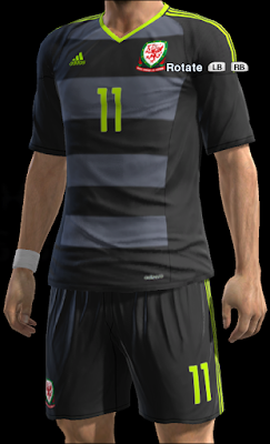 PES 2013 Wales EURO 2016 away kit by teopero