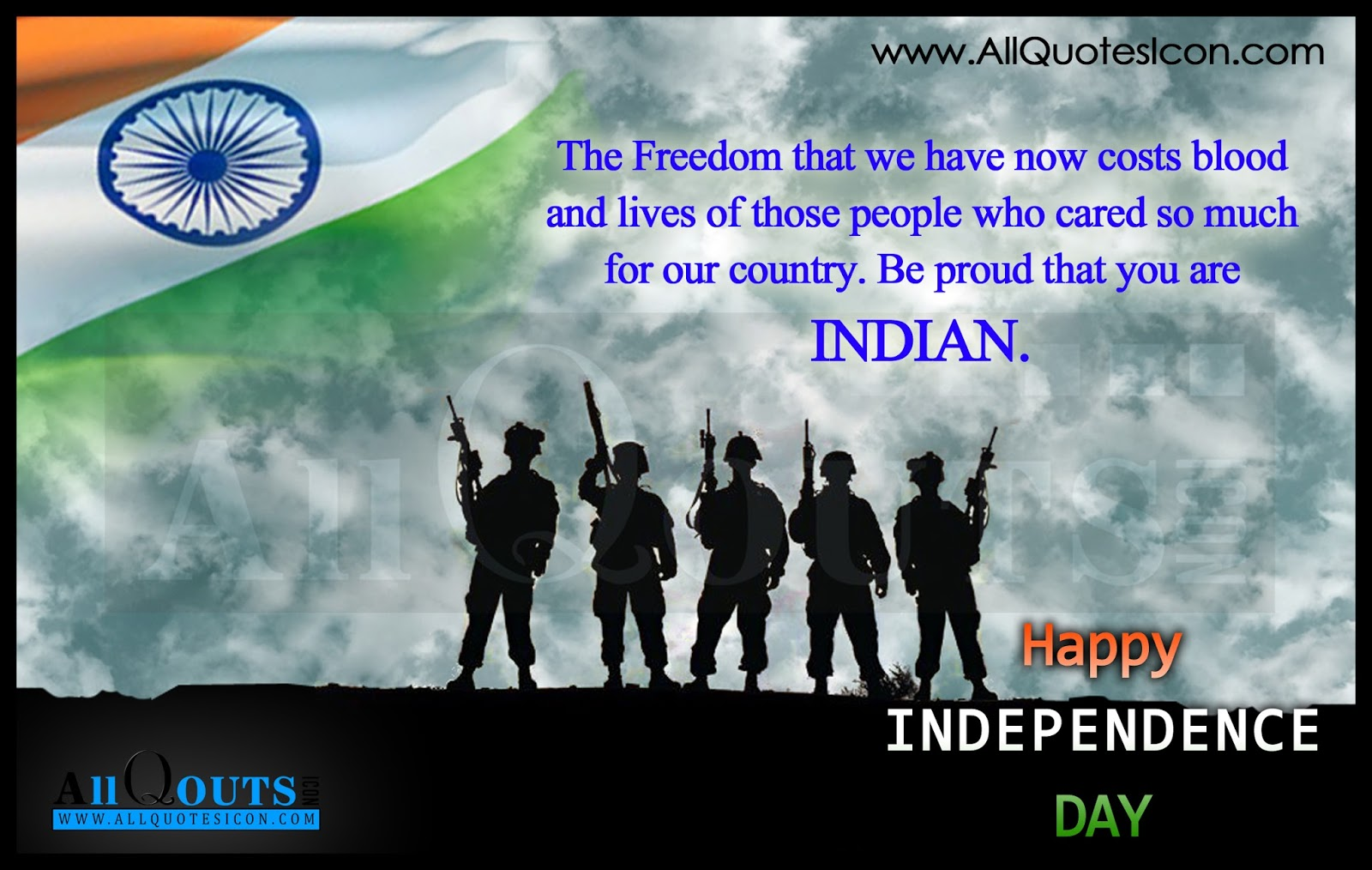 Inspirational Thought For The Day India Independence Day Greetings In English Hd Wallpapers Best