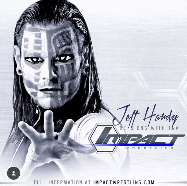 Breaking: Jeff Hardy Re-signed with TNA Wrestling!