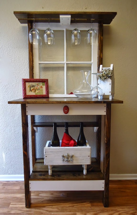 Vintage Window Accent Table - SOLD