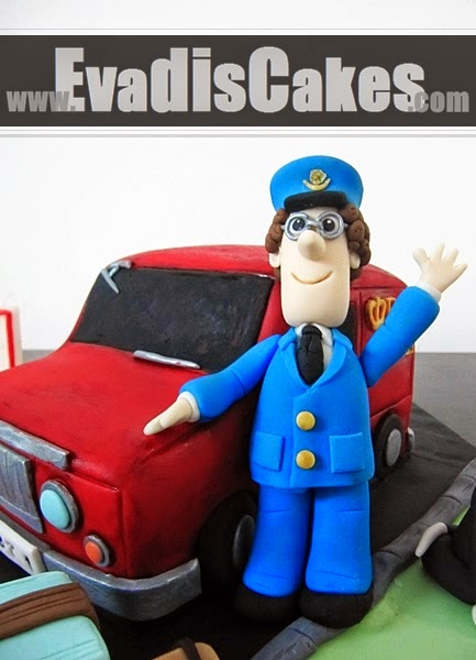 Closer view of Postman Pat character