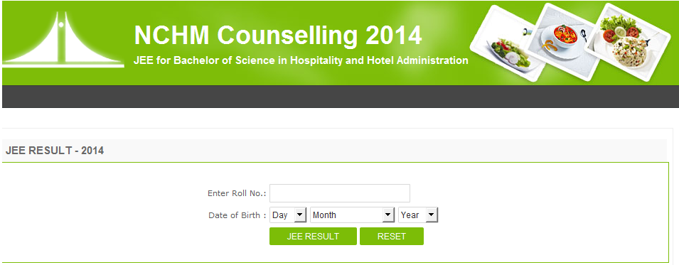 NCHMCTJEE 2014 Result