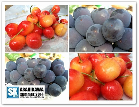 Asahikawa Japan - Enjoying Kyoho Grapes and Cherries in Tokiwa Park