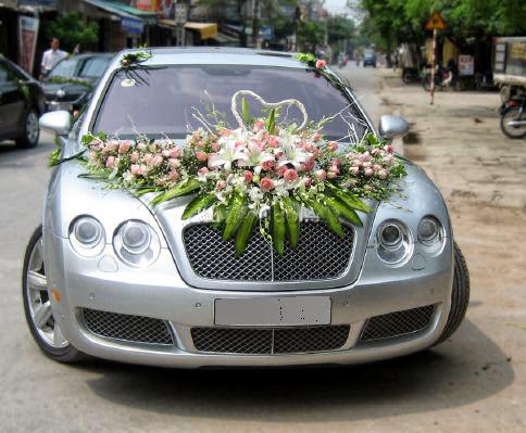 Dịch vụ cho thuê xe hoa , xe đám cưới Bentley tại hà nội