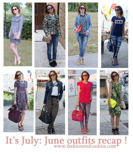 June outfits recap on Fashion and Cookies blog