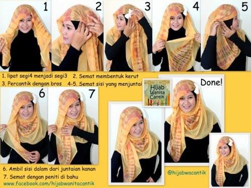 Tutorial Hijab Segiempat Modern