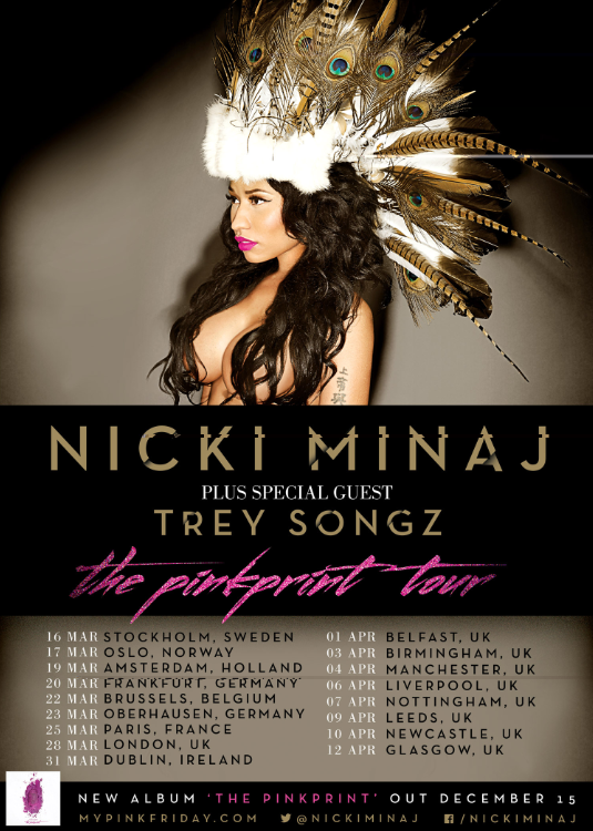 Nicki Minaj The Pinkprint European 2015 Tour