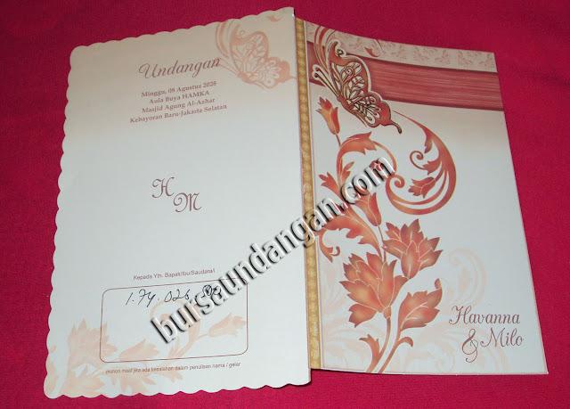 kartu undangan tampak luar undangan tampak depan