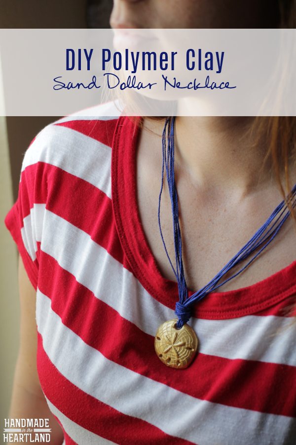 DIY Polymer Clay Sand Dollar Necklace Tutorial