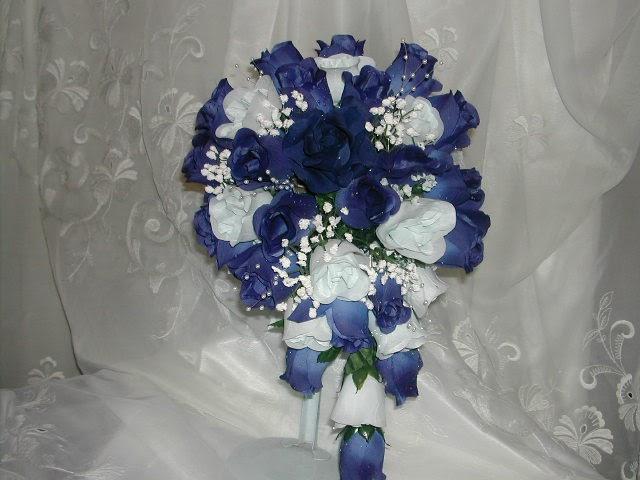 Weddingspies: Navy Blue Wedding Flowers | New Jersey Wedding Flowers