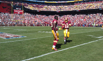 Fred Davis warming up before Washington Redskins game at FedEx