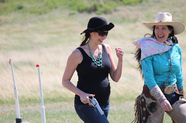 Amy West with Cowgirl