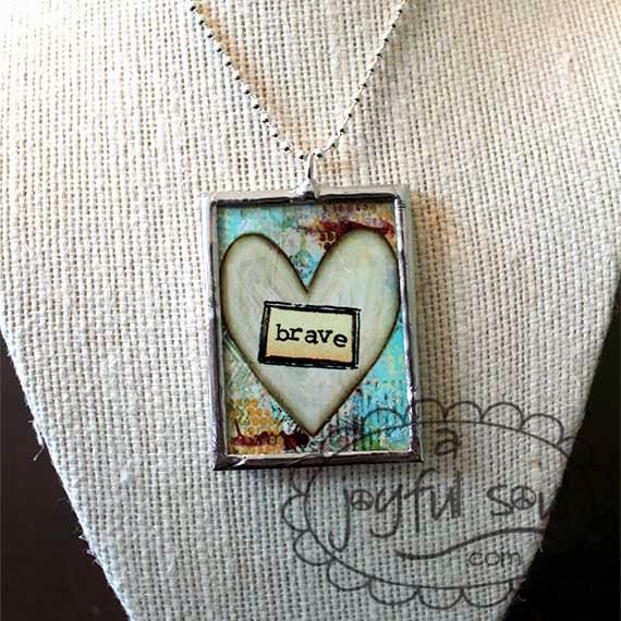 BRAVE Art Charm Necklace available from www.ajoyfulsoul.com