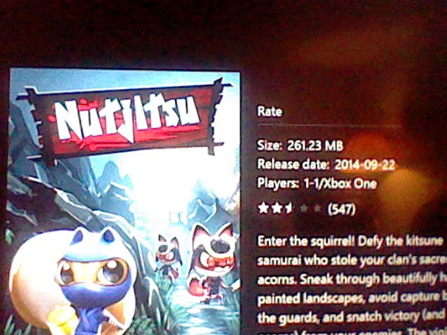 Nutjitsu is released on Xbox One