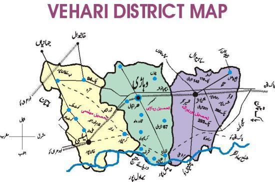 VEHARI IS BEAUTIFUL CITY OF PAKISTAN - Pakpattan map