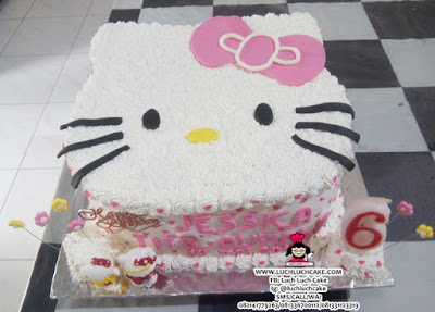 Hello Kitty Kepala Cute Cake