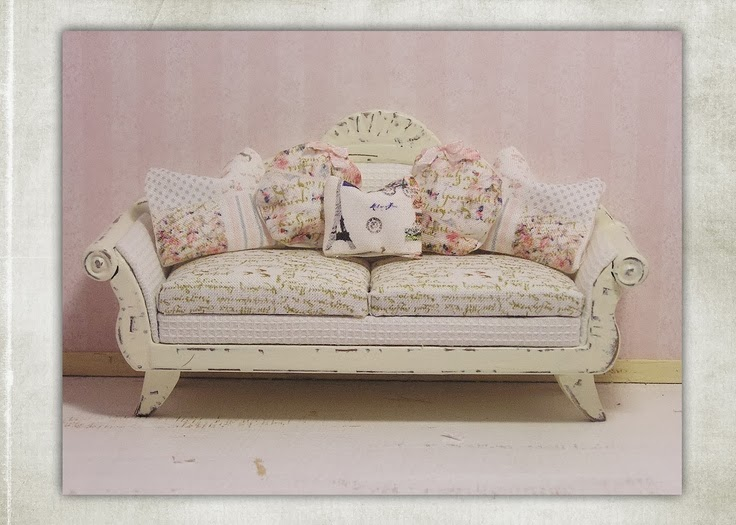 Shabby Chic & French script fabric collection