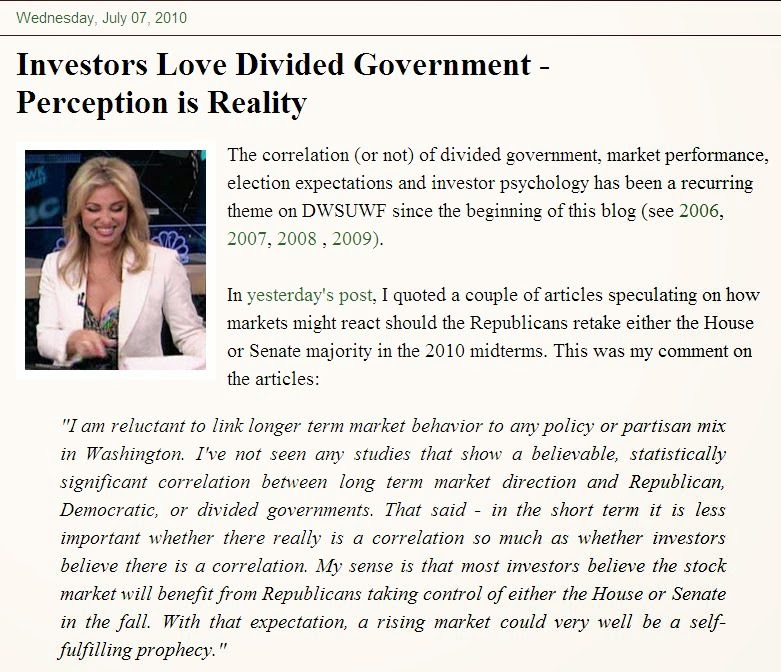 Investors Love Divided Government and Amanda Drury