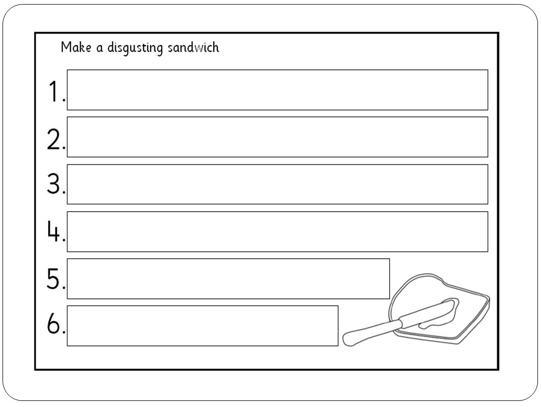 sandwich template for writing - the big dipper the lighthouse keeper 39 s lunch