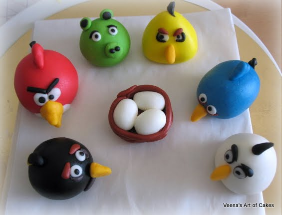 Angry Birds Figures for Cake