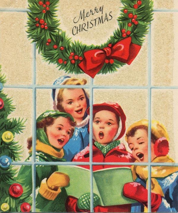 christmas carol singers vintage