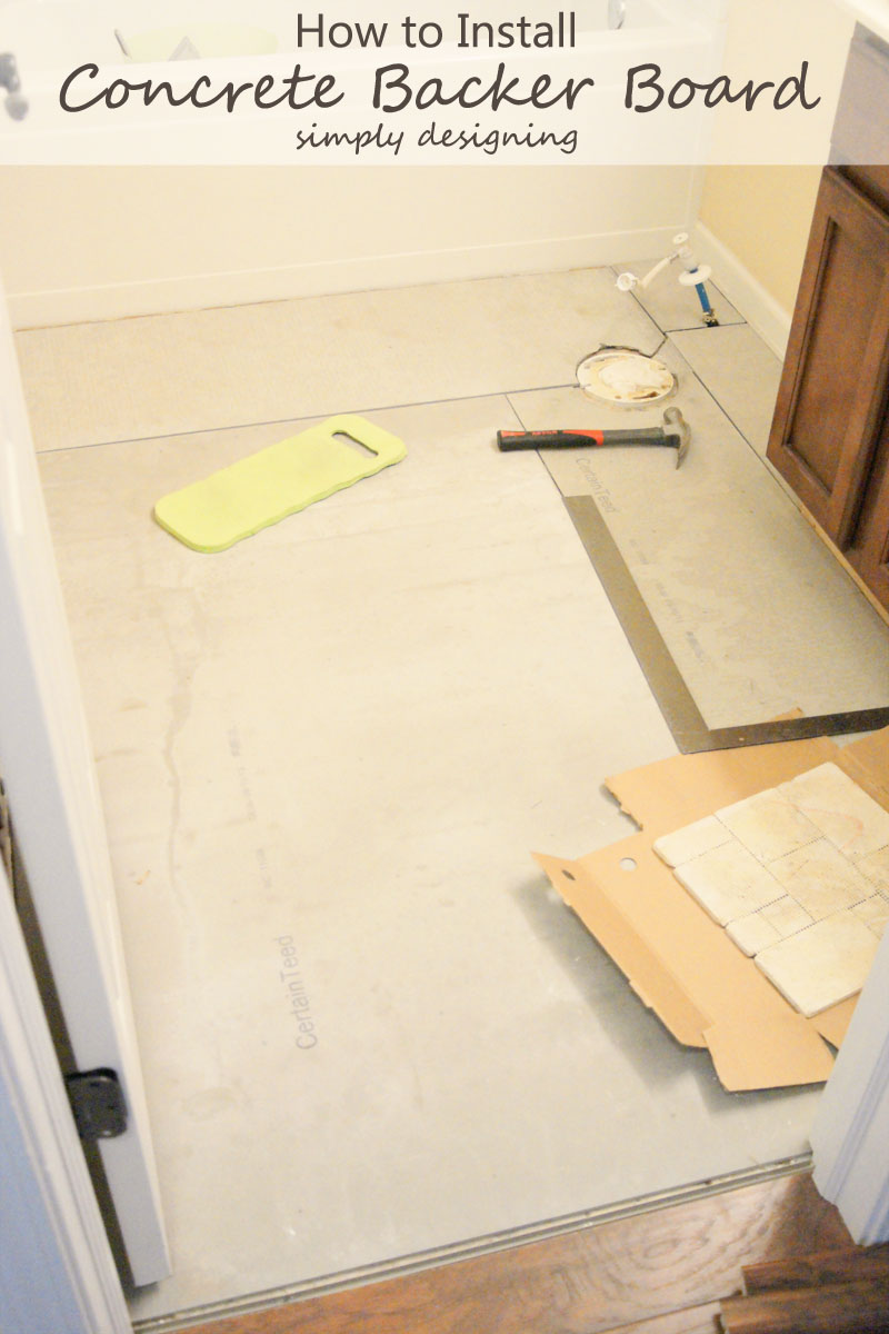 How to install concrete backer board tile installation for Cement tile installation
