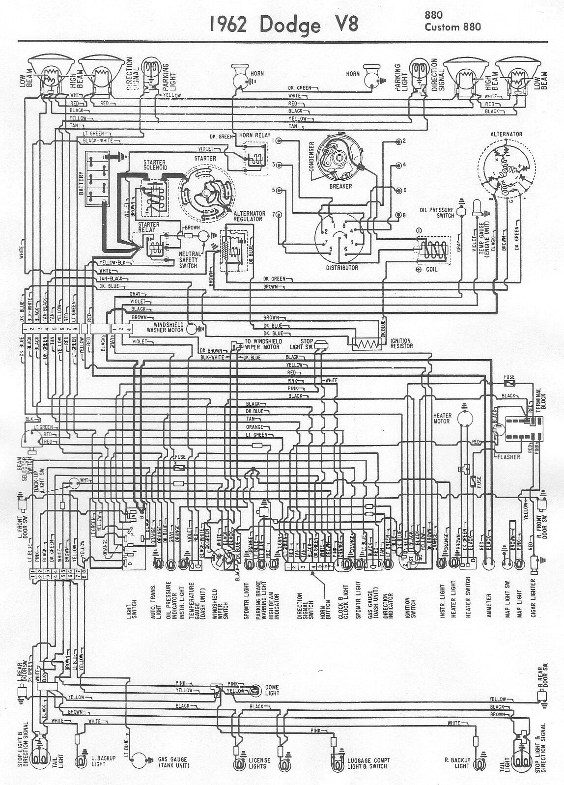 Free Auto    Wiring       Diagram     1962    Dodge    880    Wiring       Diagram