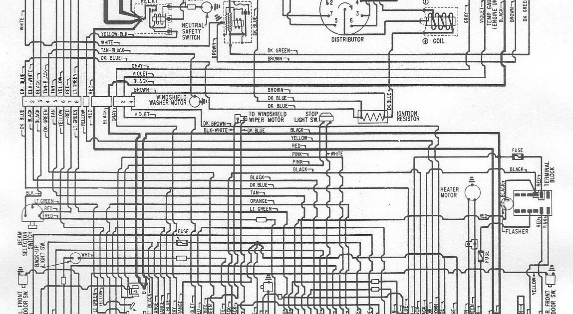 Free Auto Wiring Diagram  1962 Dodge 880 Wiring Diagram