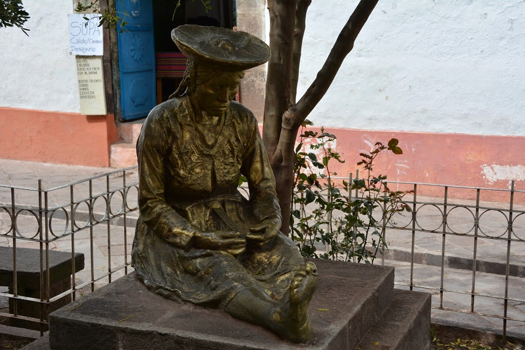 General Impressions of Cusco inca statue