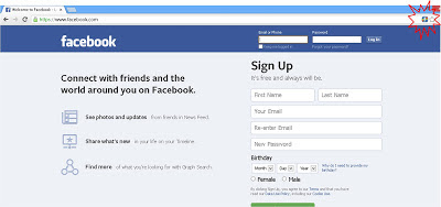 halaman facebook pada pojok kanan atas akan muncul icon facebook ...