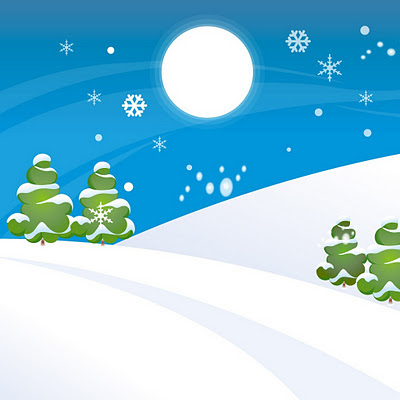 Simple Christmas snow world download free wallpapers e-cards for Apple iPad