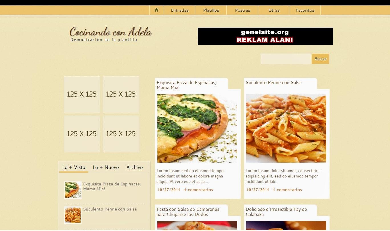 Blogger Yemek Tarifleri Teması