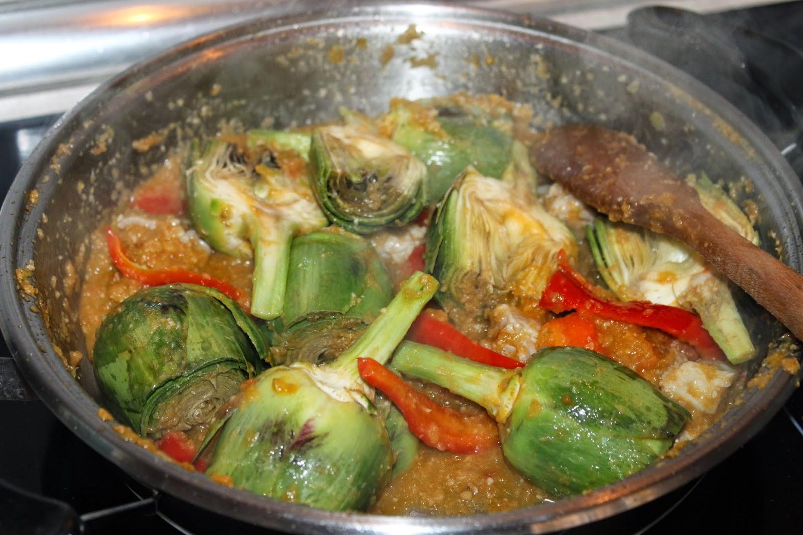 Julia y sus recetas arroz con alcachofas y bacalao - Arroz con alcachofas y jamon ...